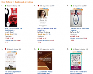 Amazon Bestseller Status in Business and Investing